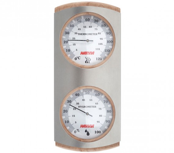 Harvia_Steel_Thermo-hygrometer